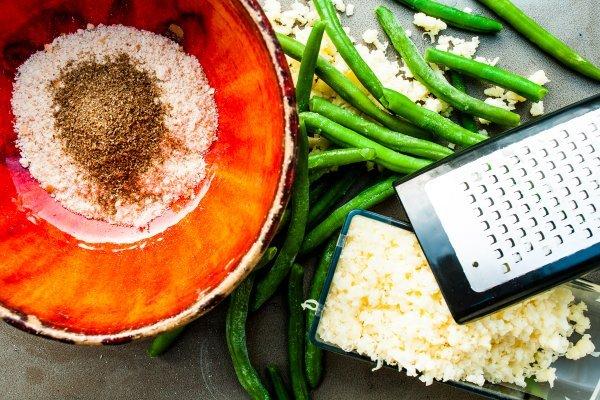 Zelené fazolky se sýrem