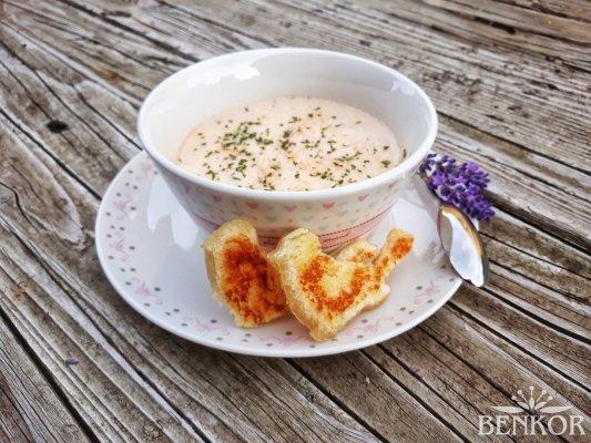 Lososová krémová polévka