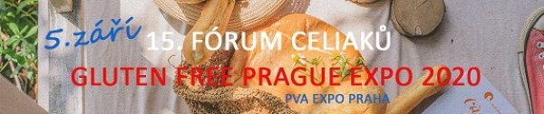 15. FÓRUM CELIAKŮ - GLUTEN FREE PRAGUE EXPO 2020